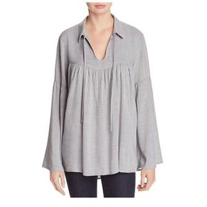 NWOT Side Stitch Bell Sleeve Blouse